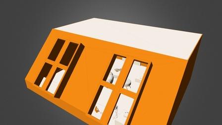 06 interior - materiales simples.3ds 3D Model