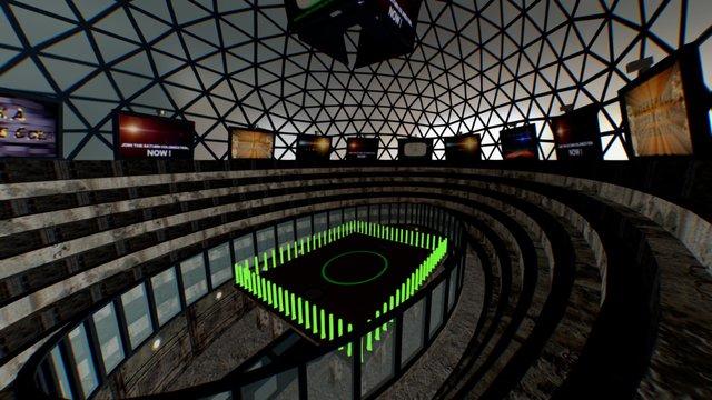 Futuristic Cyber Gladiators Arena 3D Model