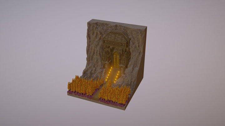 Dwarven Gate - Voxel model 3D Model