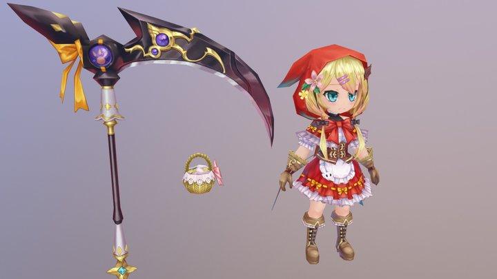 red-girl 3D Model