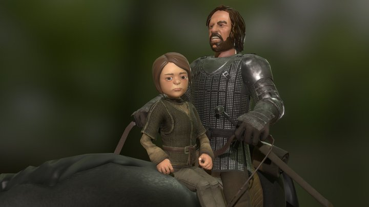 Arya&Clegane 3D Model
