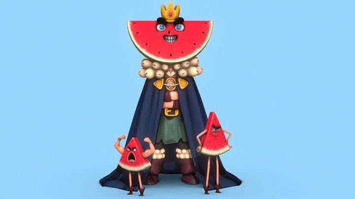 Watermelon Prince 3D Model
