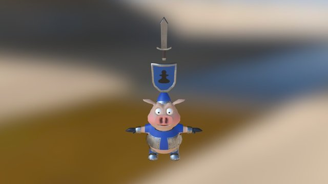 Pawn With Textures 3D Model