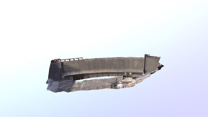 Barrage de Rouvière, Sud de France. 3D Model