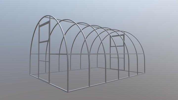 25 разборная 3 м 25×25 (шаг 65 см) 3D Model