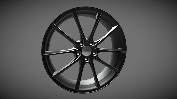 3D Model Ace Convex Wheels W 20 3D Model