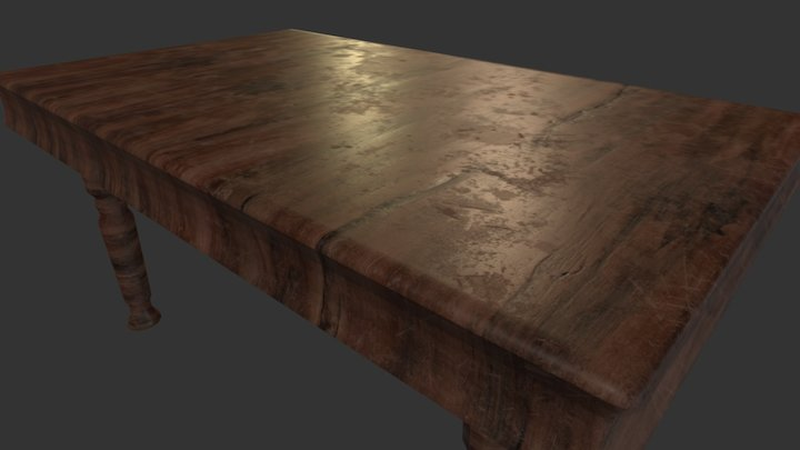Old Writing Desk 3D Model
