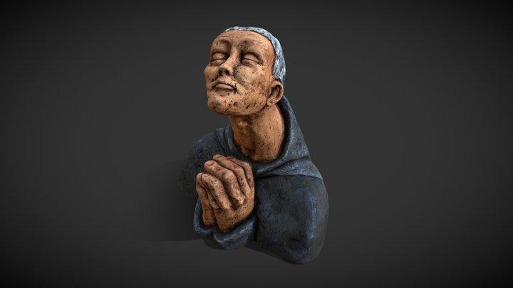 Praying Monk 3D Model