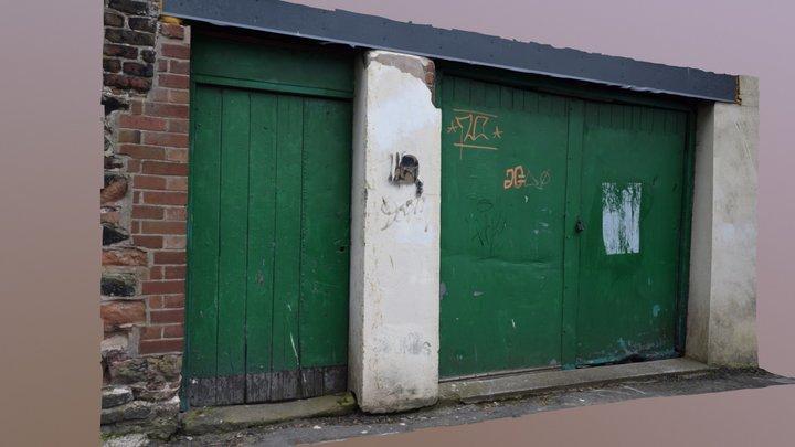 Old Doors Lockup in Wall Scan 3D Model