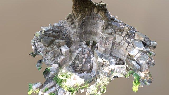 Labraunda - Tetraconch Bath 3D Model
