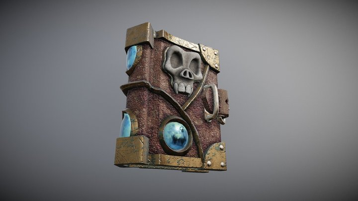 (PBR) Spellbook 3D Model
