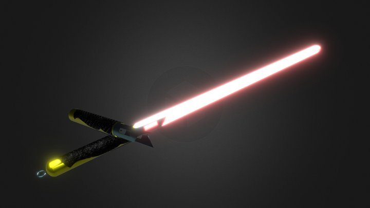 A couple of Lightsabers 3D Model