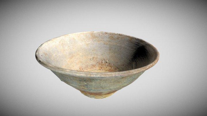 Medieval Japanese Yamajawan Rice Bowl 3D Model