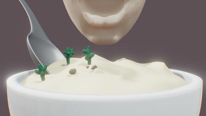 Day 04 - Desert(Dessert) #SculptJanuary18 3D Model