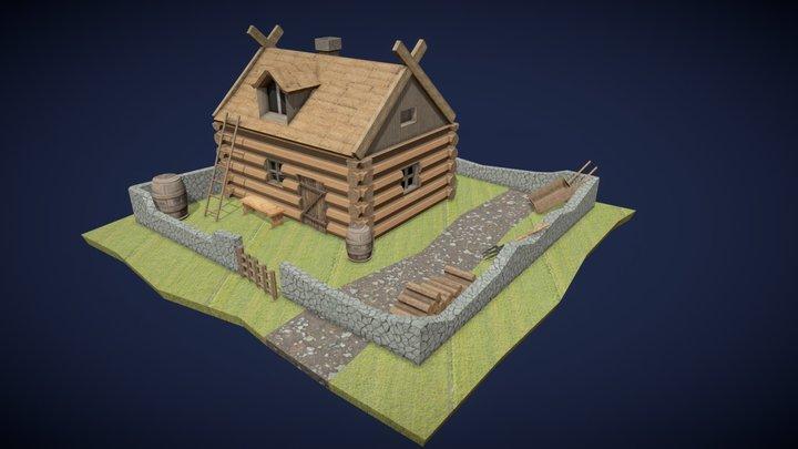 Village House. 3D Model