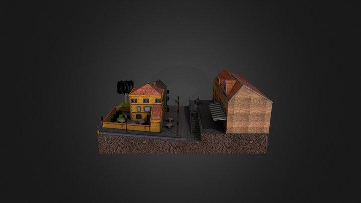 City Scene Jonas Smeets DAE12 3D Model