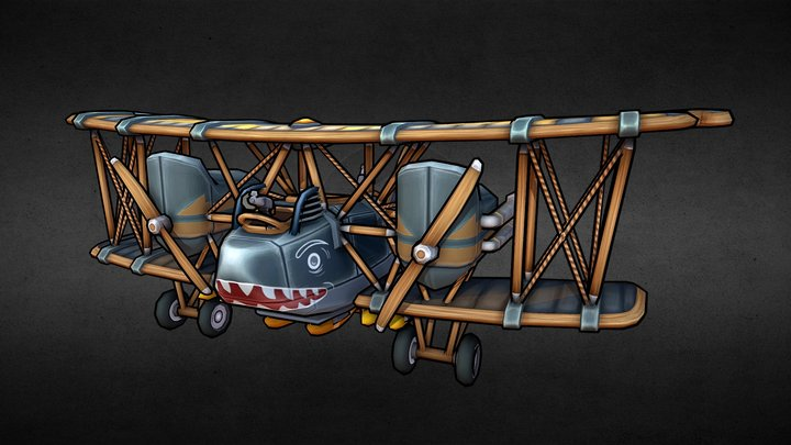 AEG G.IV Late Stylized - Flying Circus 3D Model