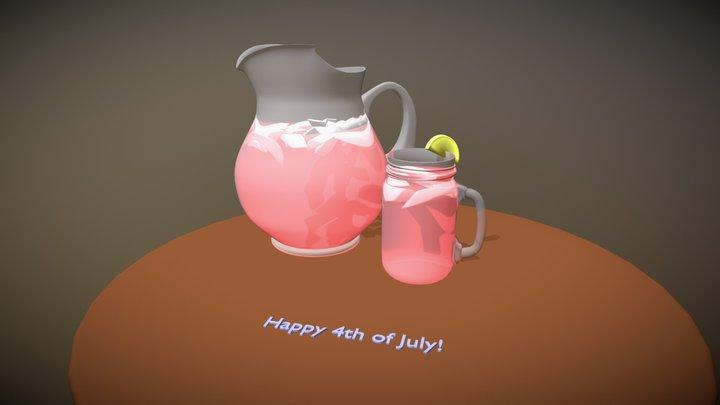 Iced Tea (Untextured) 3D Model