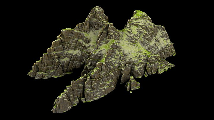 Skellig Michael Island 3D Model