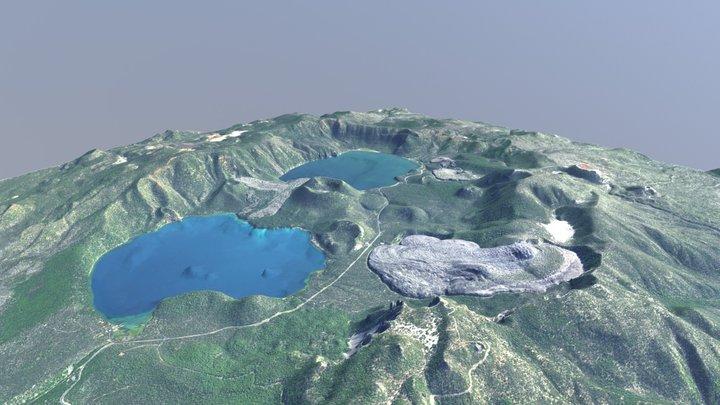 Newberry Volcano, Oregon - LiDAR Surface Model 3D Model