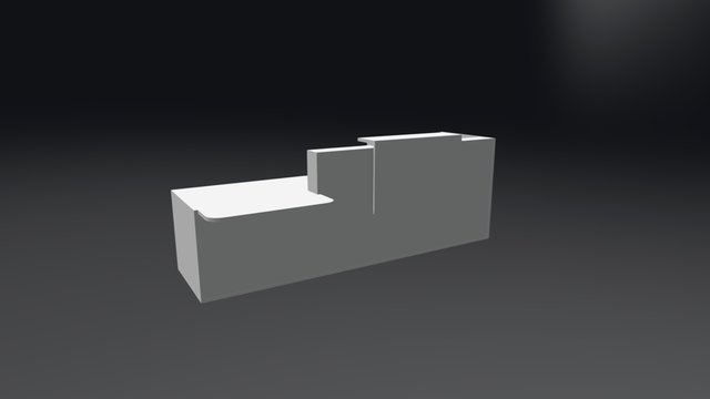 TRA39P Reception Desk 3D Model