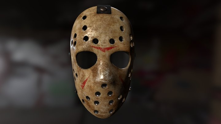 Friday the 13th hockey mask 3D Model