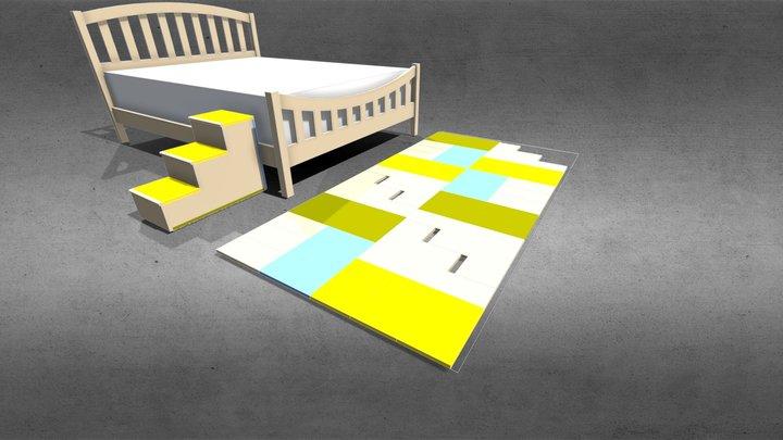 Pet Step & nesting 3D Model
