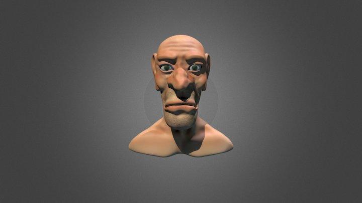 Old Man Caricature 3D Model