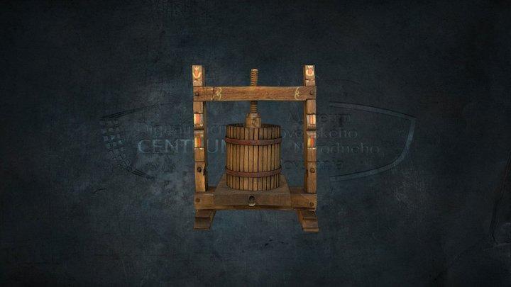 Spindle wine press / Vretenový vinohradnícky lis 3D Model