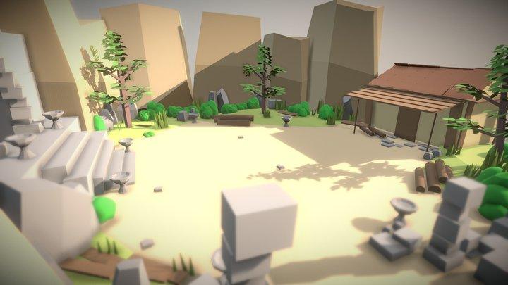 Game Level Scene 02 3D Model