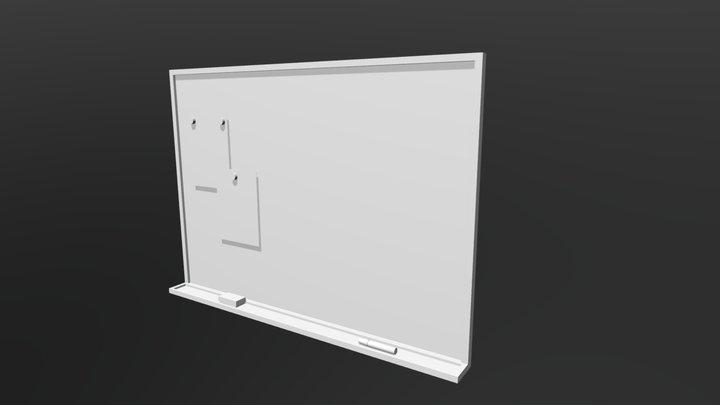 Whiteboard (Low Poly) 3D Model