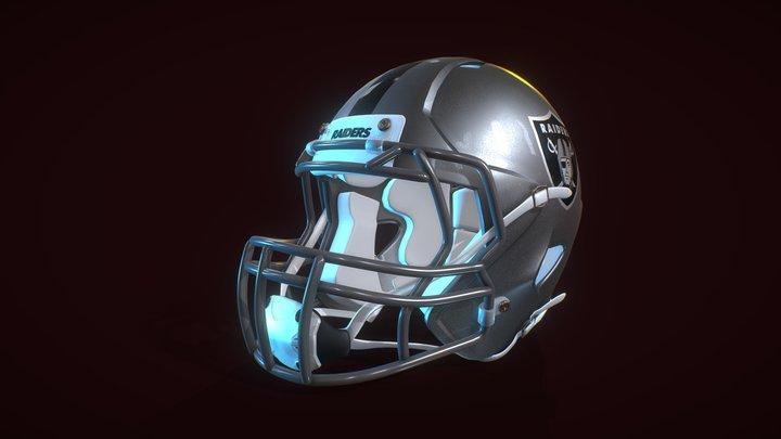 NFL Football Helmet 3D Model