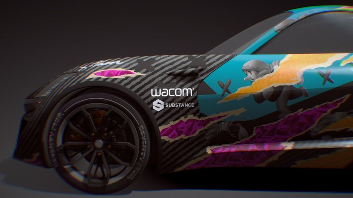 X-TAON Art Car 3D Model