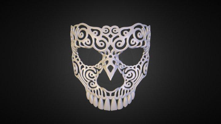 Venetian Skull Mask 3D Model