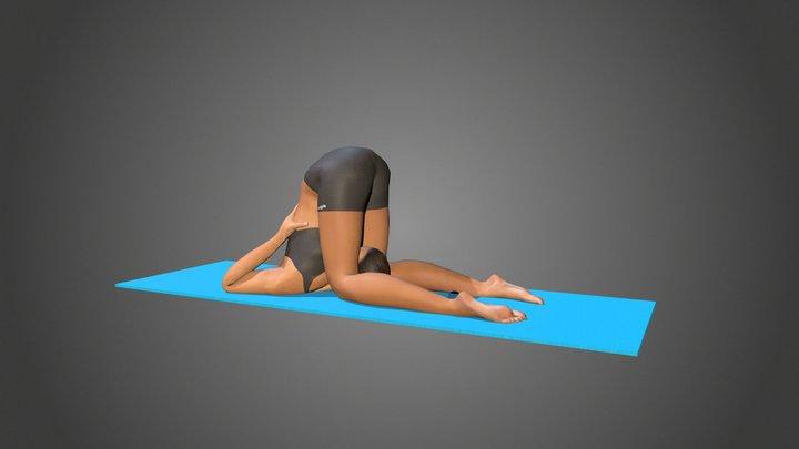 Yoga Pose - Karnapidasana 3D Model
