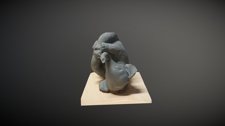 Broken Elephant 3D Model