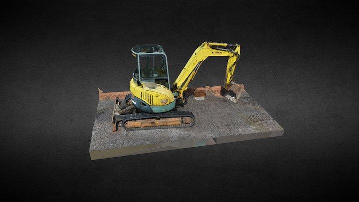 Small excavator, textured 3D Model