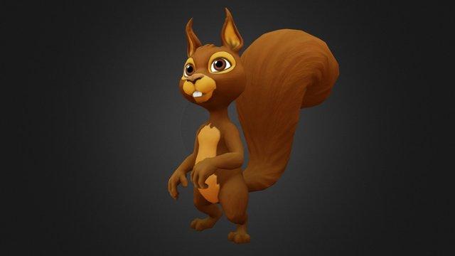 Squirrel Pose 3D Model
