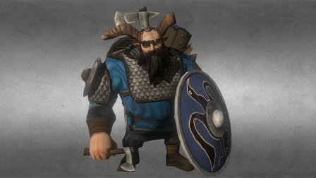 Giant Viking Guardian 3D Model