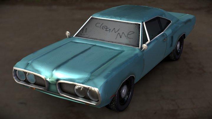 Dodge Coronet - Barn find 3D Model