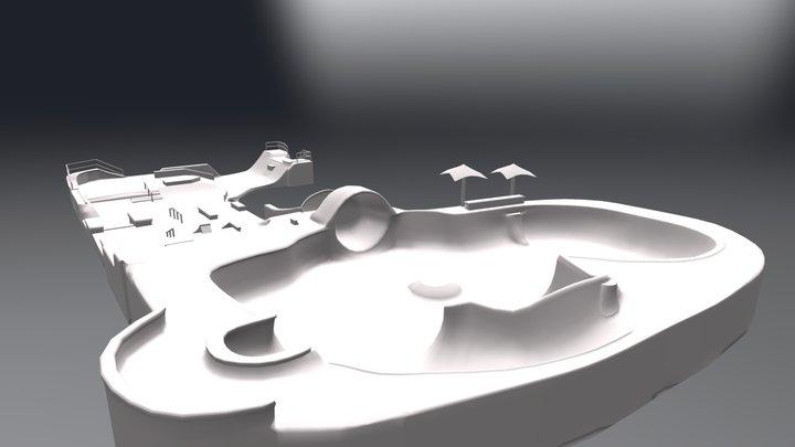 Shayla Dame Skate Park 3D Model
