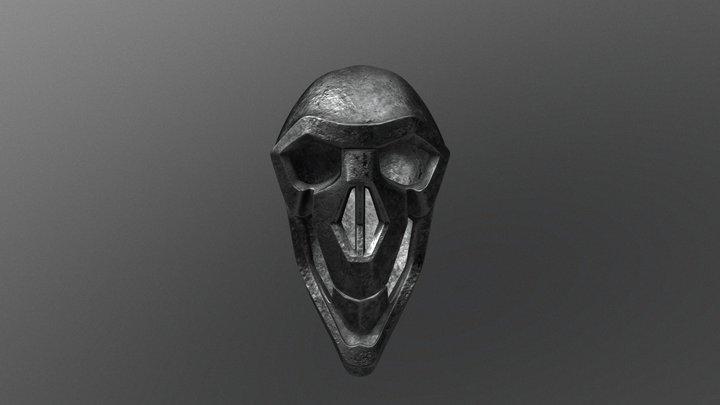 Steel Skull 3D Model