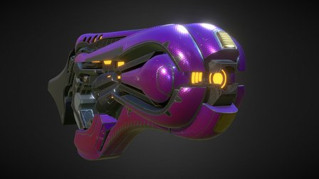 Concussion Rifle 3D Model