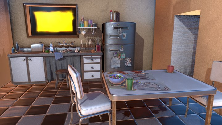 Just an Ordinary Kitchen 3D Model