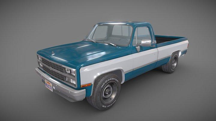American generic pickup 3D Model