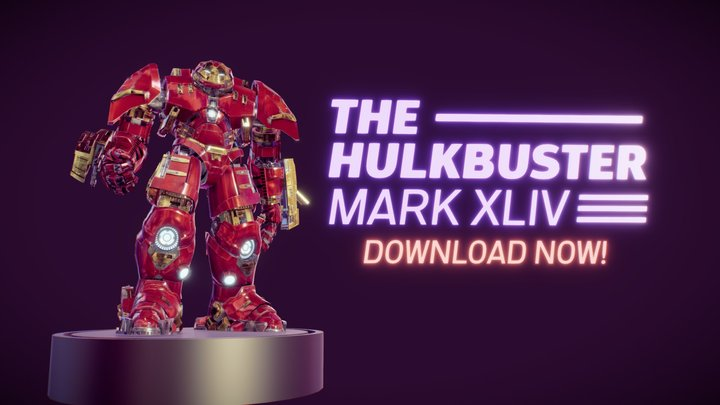 MARK XLIV: The Hulkbuster 3D Model