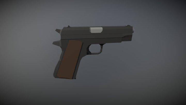 Low Poly Colt M1911 3D Model