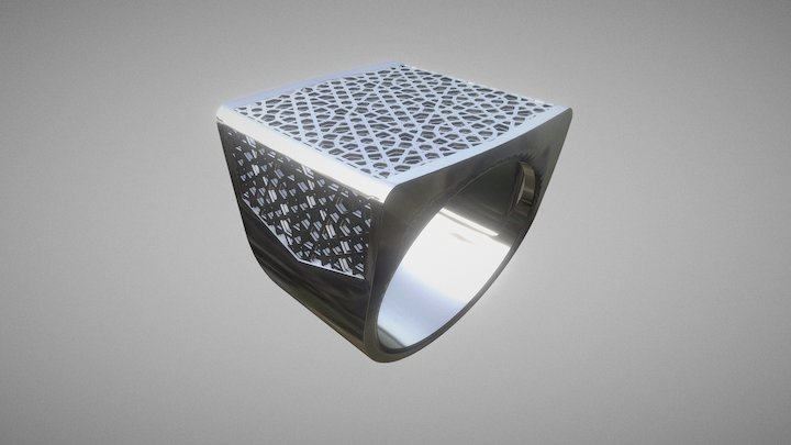 Men's ring family - Jewish pattern 3D Model