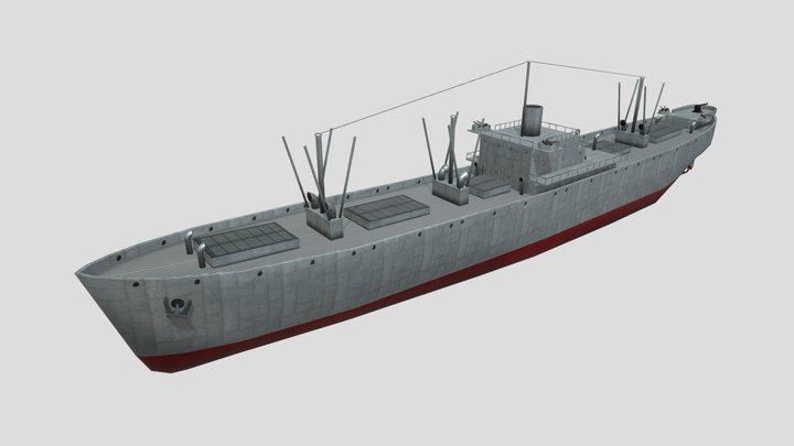 US Liberty Freighter EC2-S-C1 Low Poly Asset 3D Model