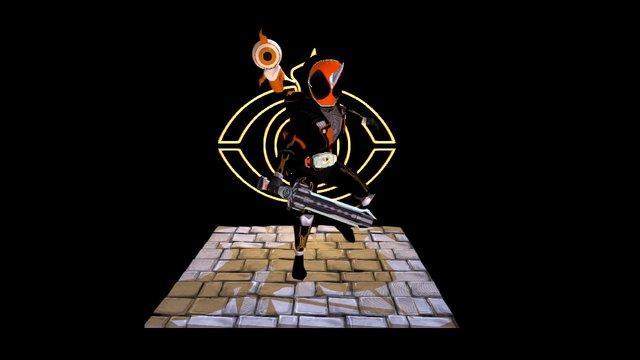 kamen rider ghost in action 3D Model
